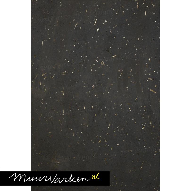 leemfinish zwart met stro